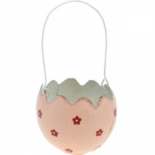 Décorations de Pâques, coquilles d'œufs pour la plantation, paniers de Pâques en métal, décorations de printemps