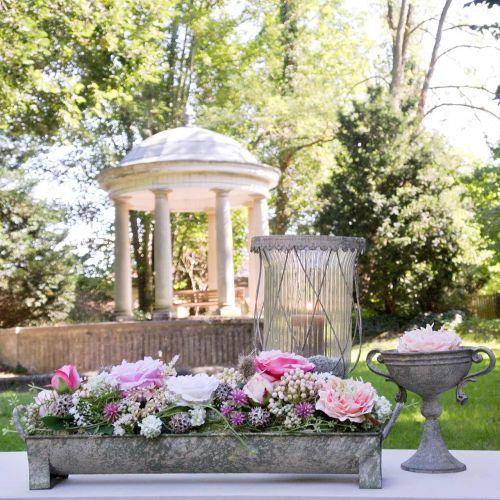 Jardinière, gouttière décorative, bac à fleurs aspect ancien L51cm