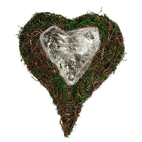 Coeur de plante comme base de rangement 30x35cm H8cm