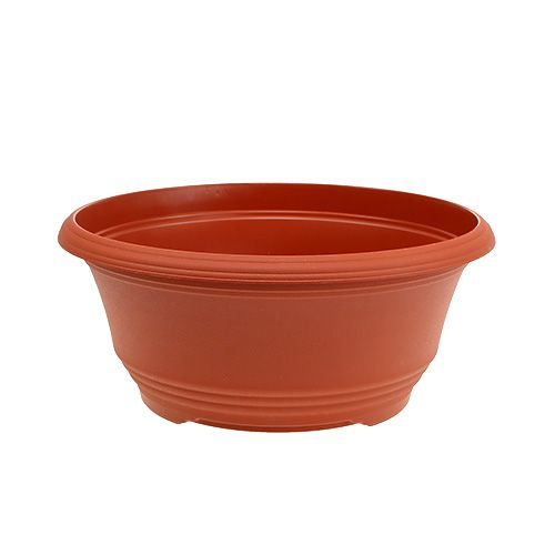 Cache-pot en plastique terre cuite Ø20cm, 1p