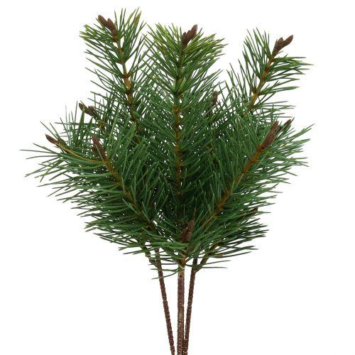 Branche de pin artificielle verte 33cm 4pcs