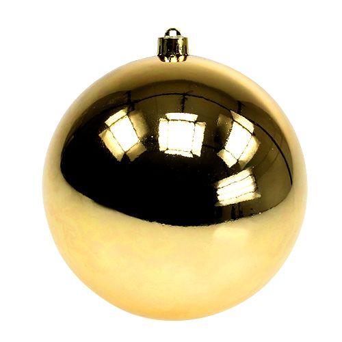Boule plastique or petit Ø14cm 1p