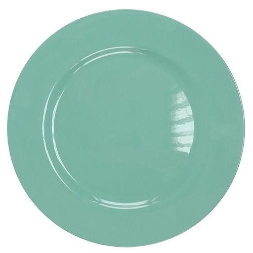 Assiette en plastique Ø 33 cm turquoise