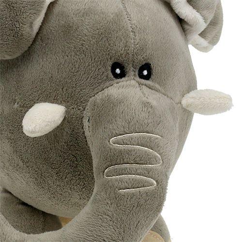 Eléphant de peluche 35cm Gris