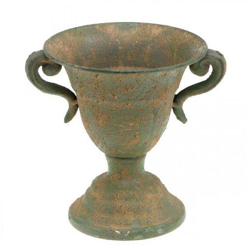 Amphore en métal, tasse à plantes, gobelet avec anses Ø12,5cm H15cm