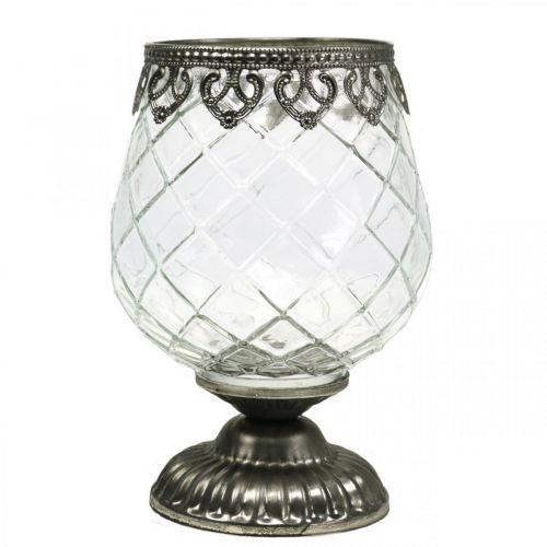 Coupe en verre antique Ø13cm H18,5cm