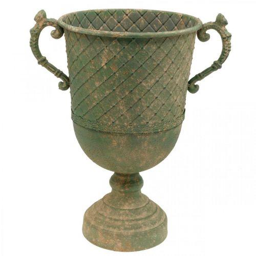 Gobelet en métal pour la plantation, gobelet avec anses, jardinière Ø25cm H43cm