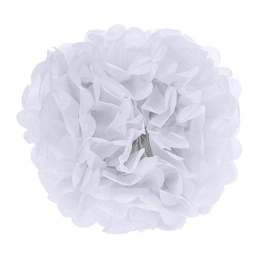 Pom-pom de papier Blanc Ø30cm 5pcs