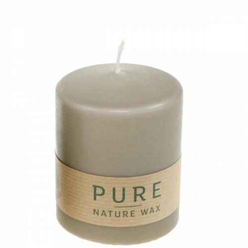 Bougie pilier pur marron 90/70 bougie stéarine durable et cire naturelle de colza
