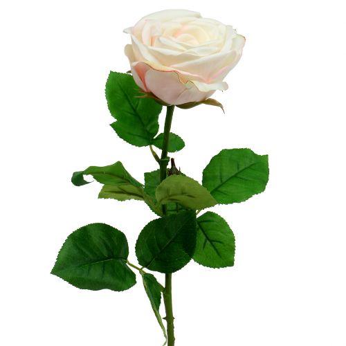 Rose artificielle crème 69 cm