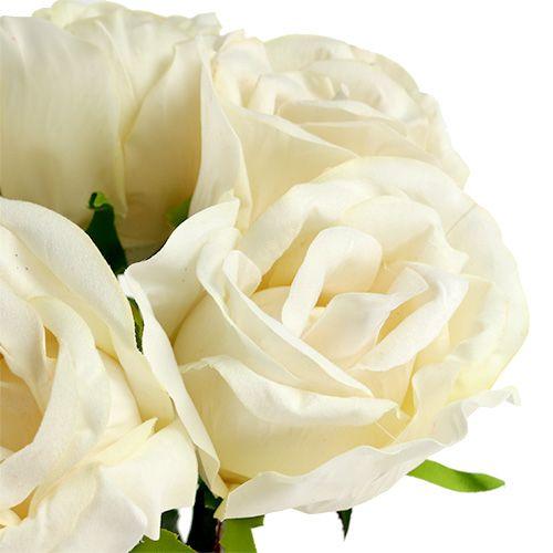 Crème de rose artificielle Ø8cm L45cm 6pcs