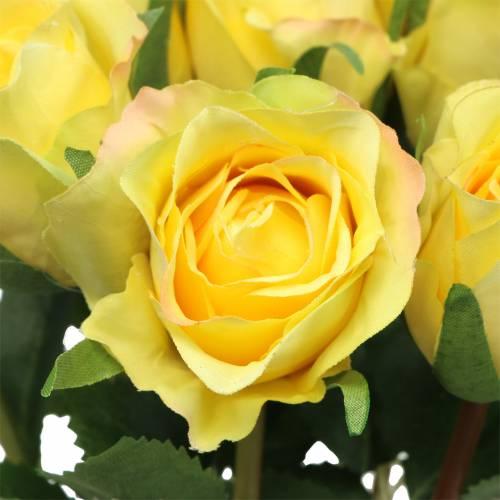 Rose jaune 42cm 12pcs