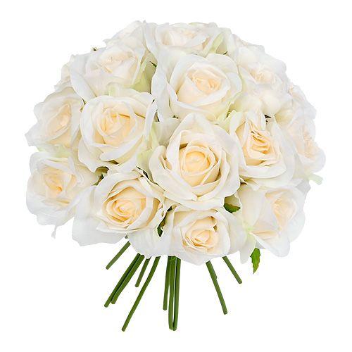 Bouquet de roses blanches 26 cm de Ø