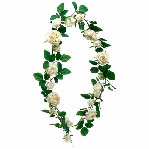 Guirlande de roses romantiques, fleur en soie, vrille de rose artificielle 160cm