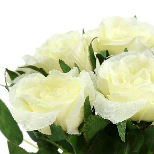 Bouquets de roses blanches L 26 cm 3 p.