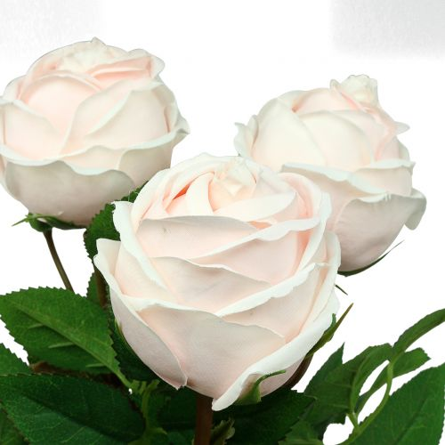 Bouquet de roses rose tendre 65 cm 4 p.