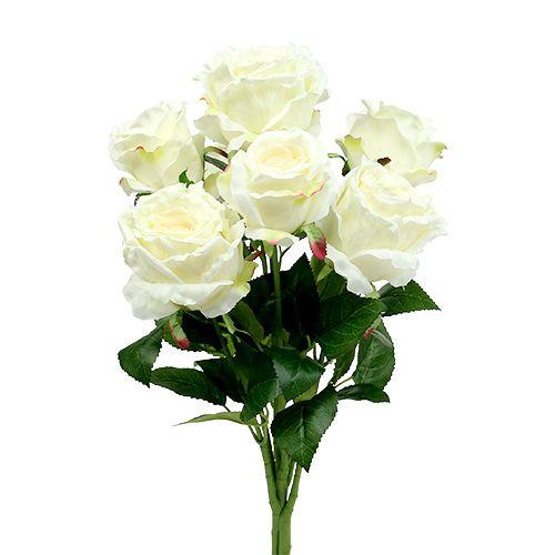 Bouquet de rose blanc, crème 55 cm
