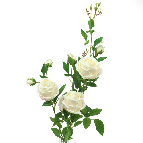 Branche de rose crème / rosé 100cm