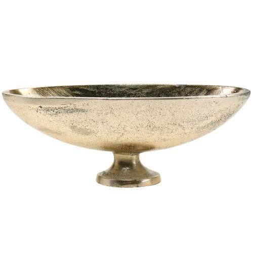 Bol ovale avec pied doré 20,5 × 8cm