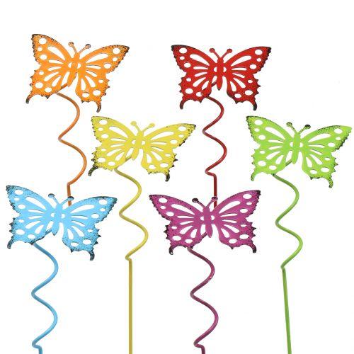 Plug fleur papillon coloré 22cm 12pcs
