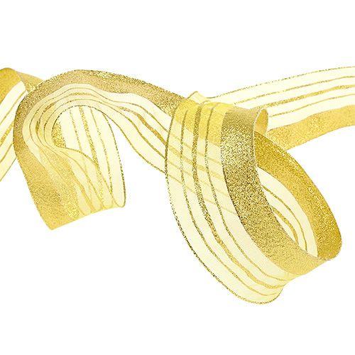 Ruban de parure avec bande de lurex doré 40mm 20m