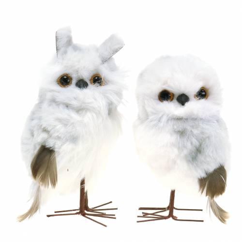 Oiseaux de neige pour suspendre blanc 12cm 2pcs