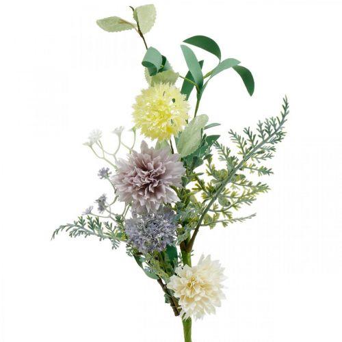 Fleurs en soie en bouquet, décorations d'été, chrysanthèmes et chardons sphériques, fleurs artificielles L50cm