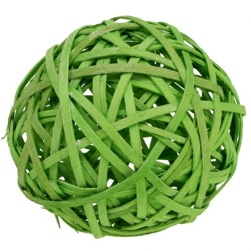 Boule de sangles vert clair Ø 8 cm 4 p.