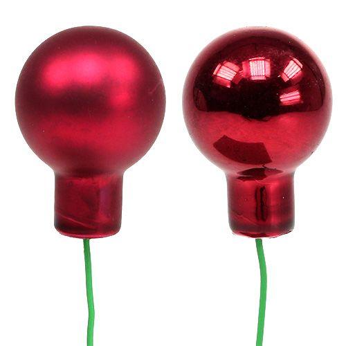 Miroir baies rouges mix Ø25mm 140p