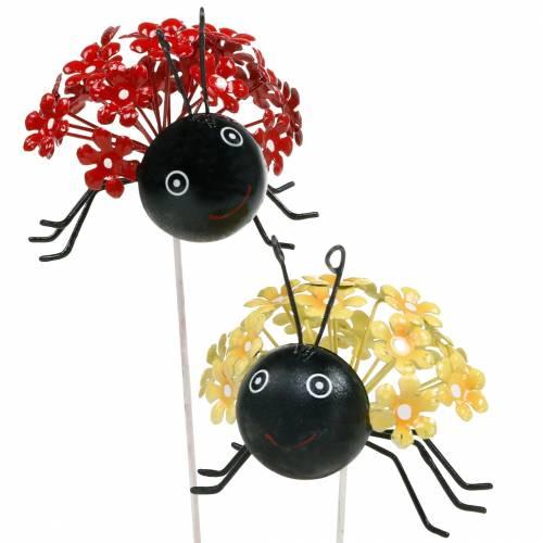 Bouchon de jardin fleur coccinelle rouge, jaune assorti 2pcs