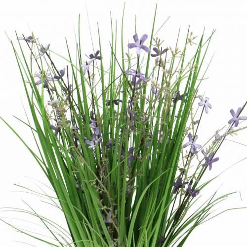Bouquet décoratif décoratif avec fleurs de prairie lilas artificiel 51cm