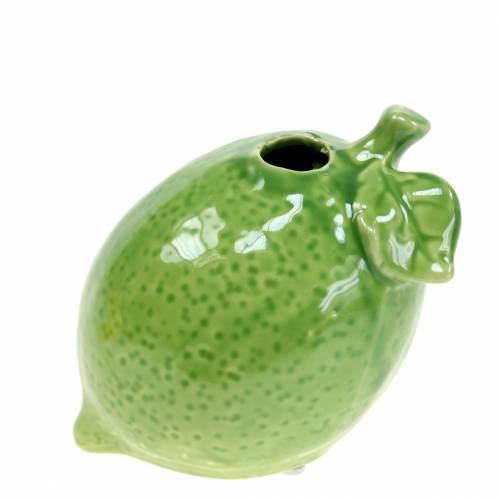 Vase en grès vert citron 10cm