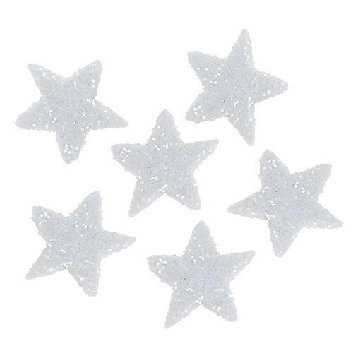 Paillettes étoiles 1,5cm pour saupoudrer de blanc 144pcs