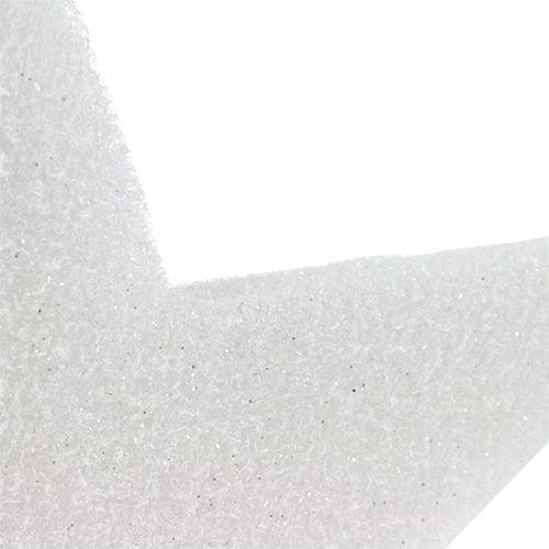 Etoile à suspendre blanche 37cm L48cm 1pc