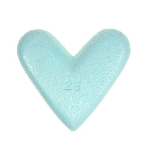 Coeur en polystyrène 25cm 2pcs