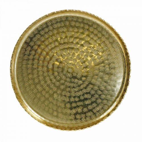 Plateau décoratif, plaque métal oriental, décoration de table Ø25cm