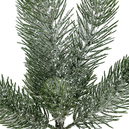 Branche de sapin vert glacé 30cm 3pcs