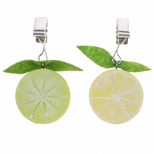 Nappe poids citron lime assorti 8pcs