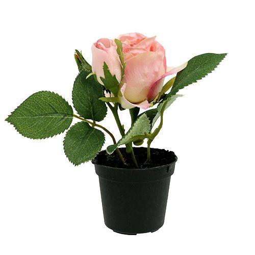 Décoration de table rose en pot rose clair 14 cm