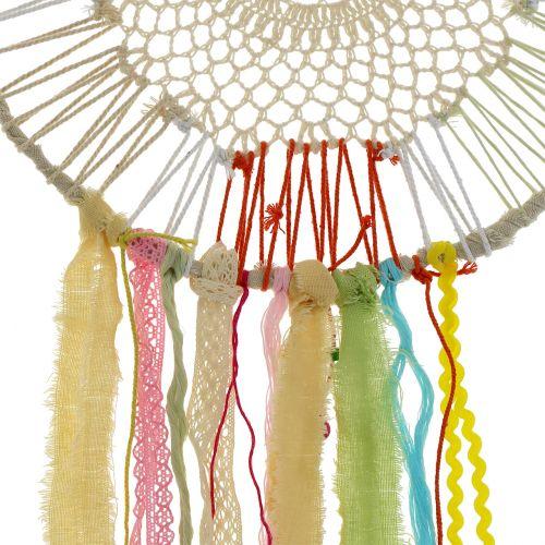 Attrape-rêve multicolore Ø 35 cm L. 115 cm
