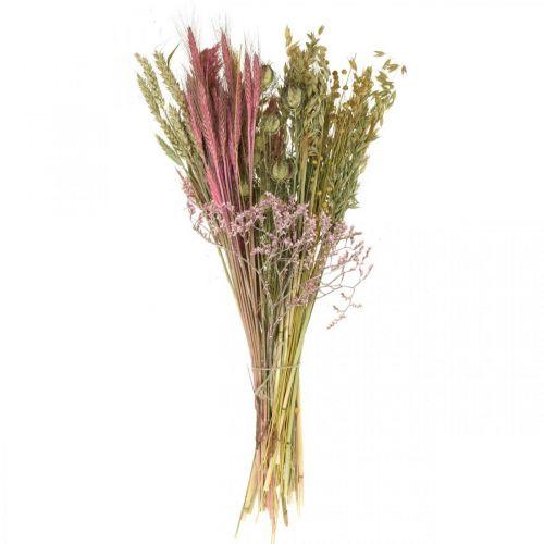 Set DIY fleurs séchées pour bouquet rose fleurs sèches 60cm