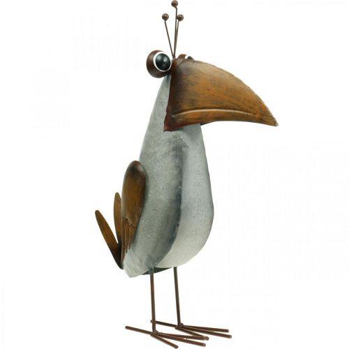 Figurine de décoration, oiseau en métal, corbeau, décoration en métal 43cm