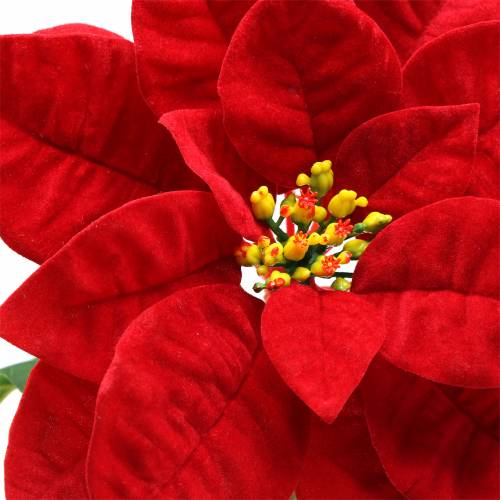 Poinsettia Art Fleur Rouge 67cm