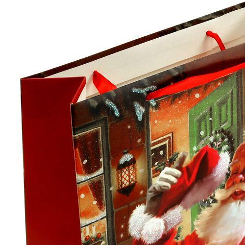 Pochette à cadeaux avec Père Noël 24 x 18 x 8 cm