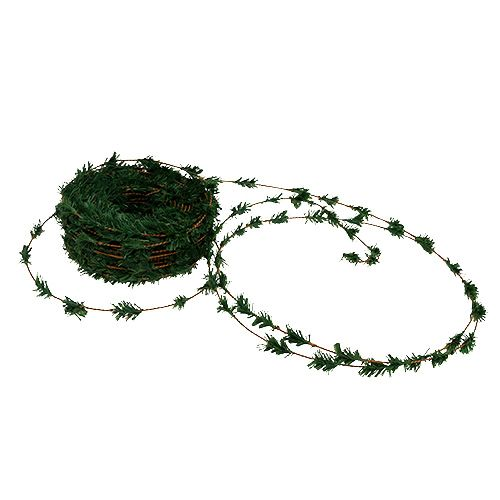 Guirlande de cèdre mini vert avec fil 27m