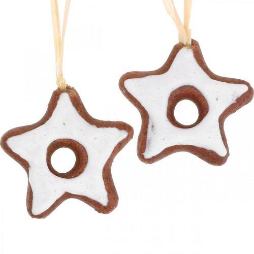 Décorations de sapin de Noël étoiles à la cannelle décoration étoile en plastique 5cm 24pcs