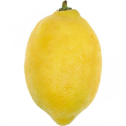 Fruits artificiels, citron, fruits décoratifs L8,5cm Ø5cm 4pcs