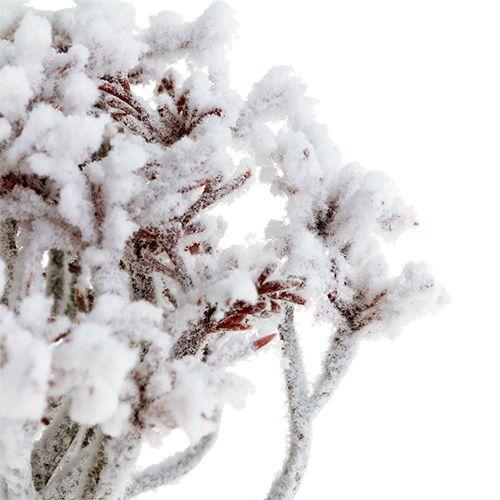 Branche avec neige 22cm 3pcs