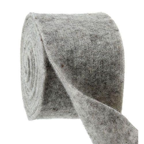Ruban feutre gris 15cm 5m
