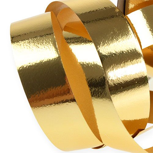 Ruban à friser brillant 19 mm 100 m doré